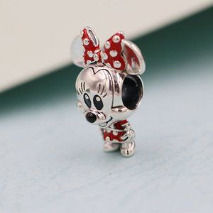 Disney Minnie Mouse Dotted Dress & Bow Charm
